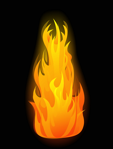 Vector Fire Flames Stock Illustration - Download Image Now