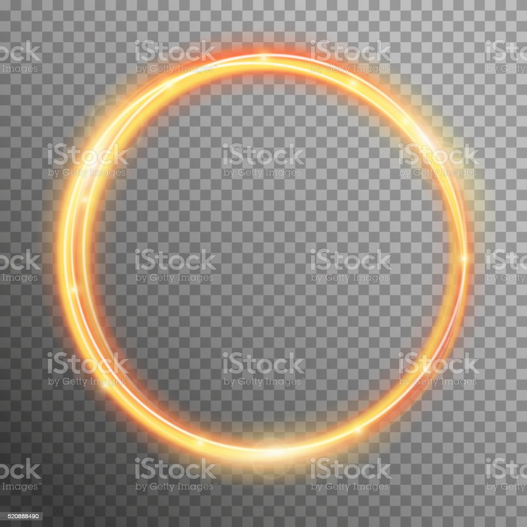 Vector fire sparkle spiral wave line with flying sparkling flash vector art illustration