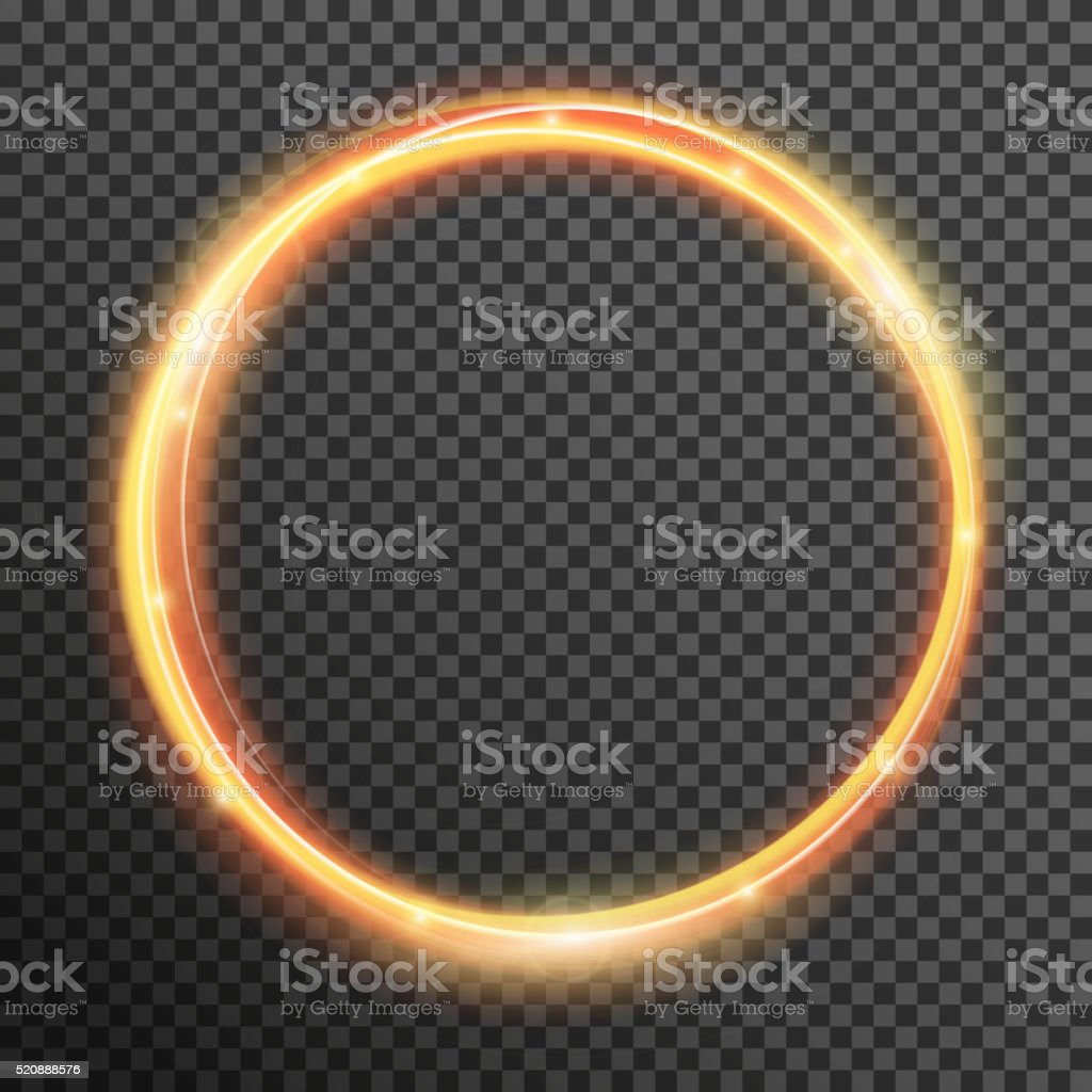 Vector fire sparkle spiral wave line with flying sparkling flash