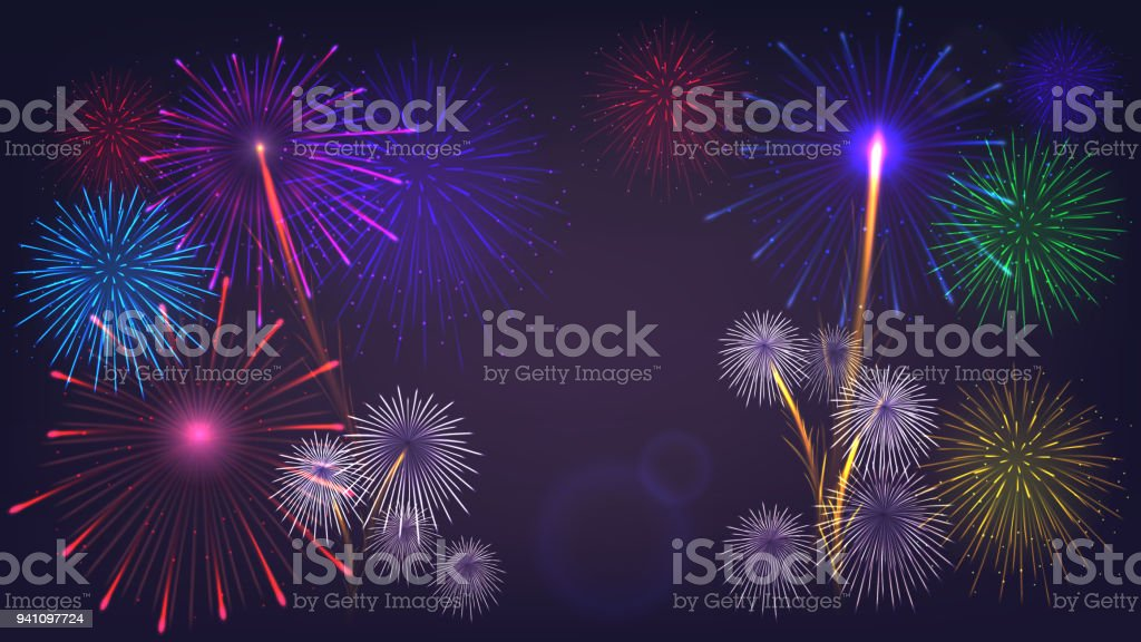vector fireworkstemplate poster stock vector art more images of