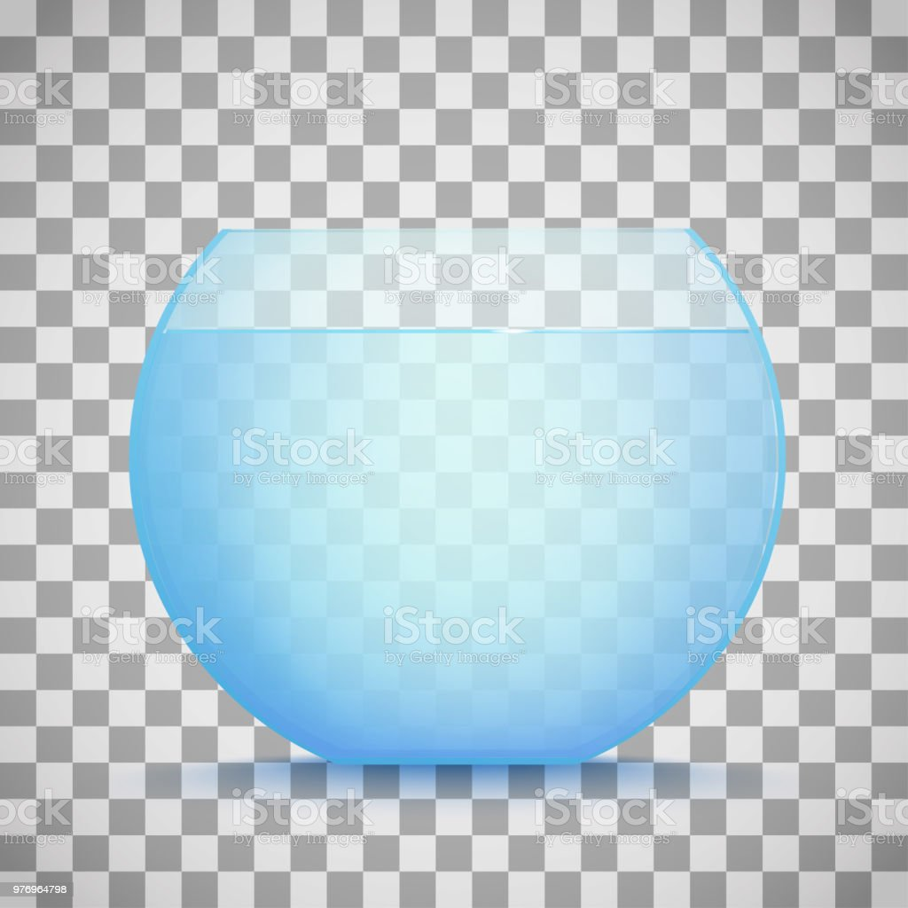 ベクトル金魚鉢透明で分離された水が付いているアクアリウム しぶきを