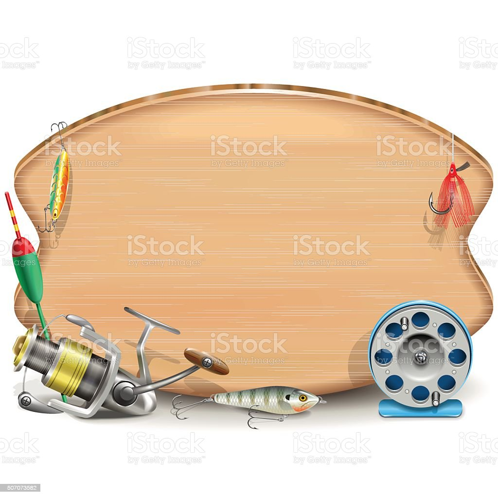 Vector Fishing Board vector art illustration