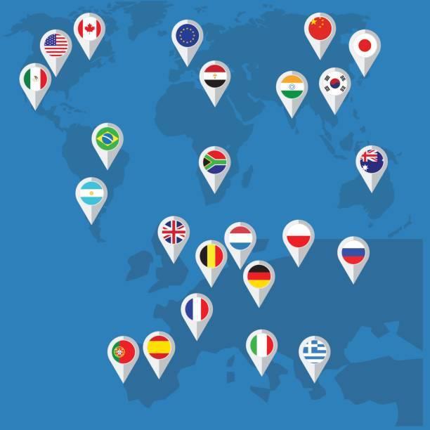 フラットなデザインのベクトル フラグ ボタン - ドイツの国旗点のイラスト素材/クリップアート素材/マンガ素材/アイコン素材