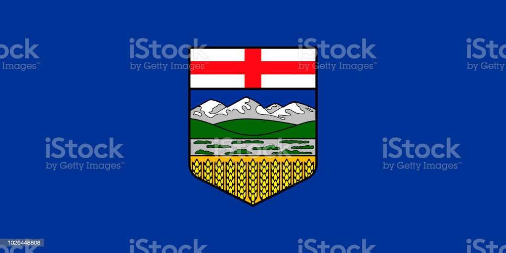 Vector bandeira da província de Alberta Canada.Calgary, Edmonton - ilustração de arte em vetor