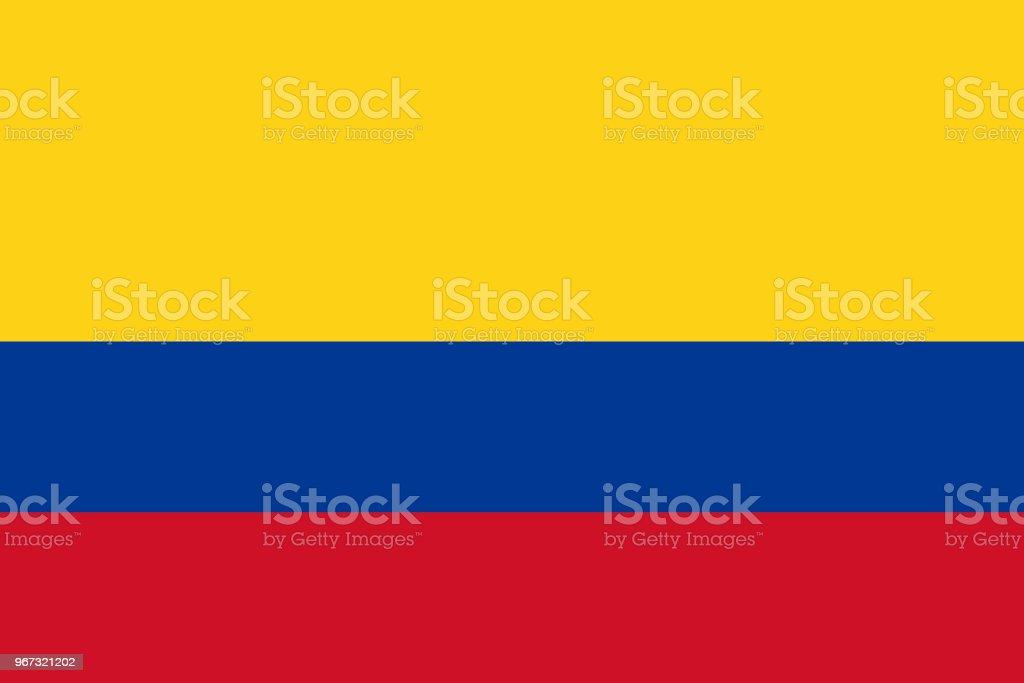 Vector vlag van Colombia. Deel 2:3. Colombiaanse nationale driekleurige vlag. Tricolor. - Royalty-free Achtergrond - Thema vectorkunst