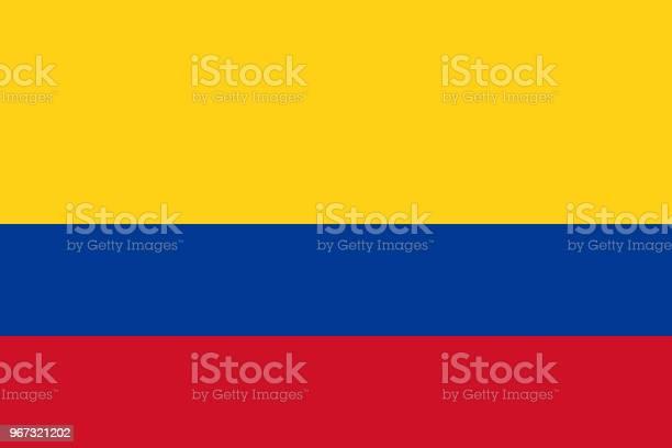 Vector Vlag Van Colombia Deel 23 Colombiaanse Nationale Driekleurige Vlag Tricolor Stockvectorkunst en meer beelden van Achtergrond - Thema