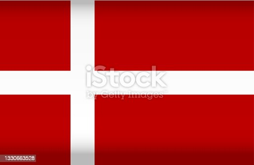 istock Vector flag of Denmark. Color symbol isolated 1330663528