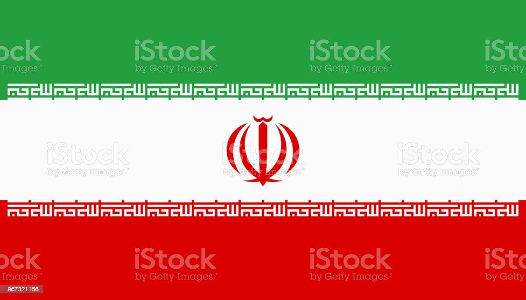 Vector bandeira do Irã. Proporção de 4:7. Bandeira tricolor nacional iraniana. Tricolor. - ilustração de arte em vetor