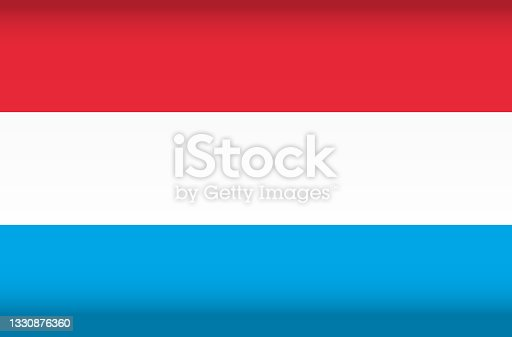 istock Vector flag of Luxembourg. Color symbol isolated 1330876360