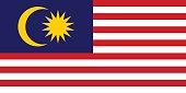 Vector flag of Malaysia illustration.