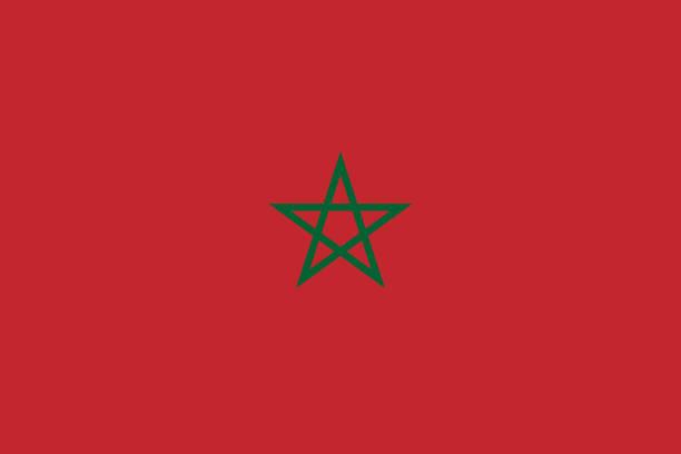 Vector flag of Morocco. Proportion 2:3. Moroccan national flag. Vector flag of Morocco. Proportion 2:3. Moroccan national flag. Vector EPS 10 morocco stock illustrations