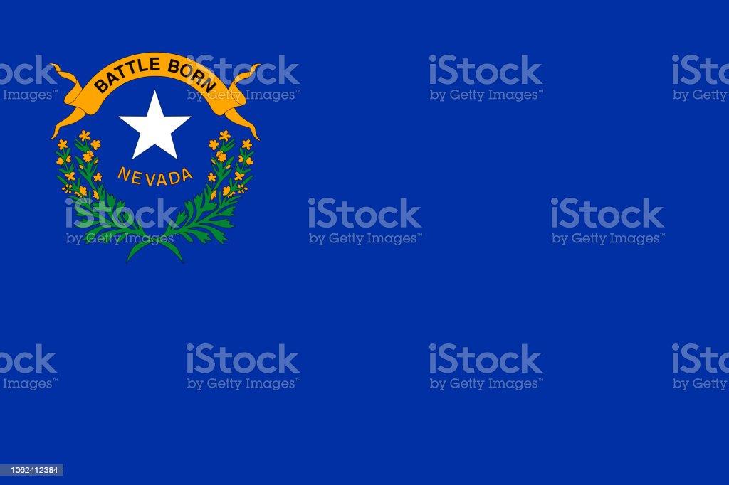 Vector bandeira do estado de Nevada. Las Vegas, Reno. Estados Unidos da América. - ilustração de arte em vetor