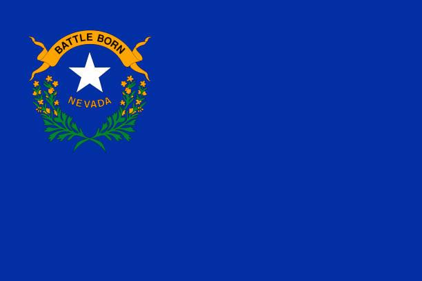 ilustrações, clipart, desenhos animados e ícones de vector bandeira do estado de nevada. las vegas, reno. estados unidos da américa. - bandeira union jack