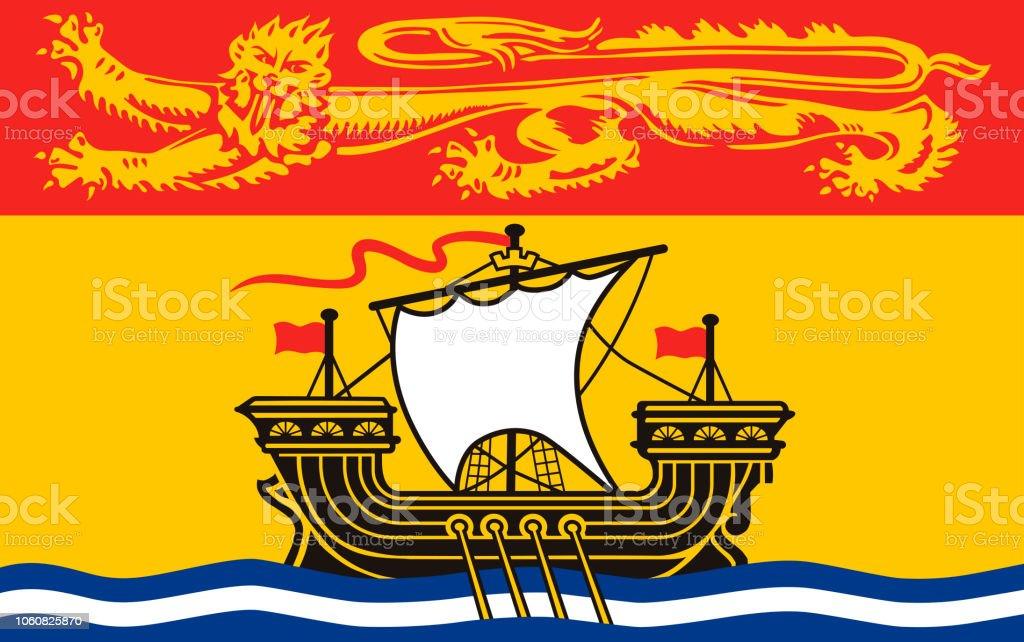 Vector bandeira da província de New Brunswick, Canadá - ilustração de arte em vetor
