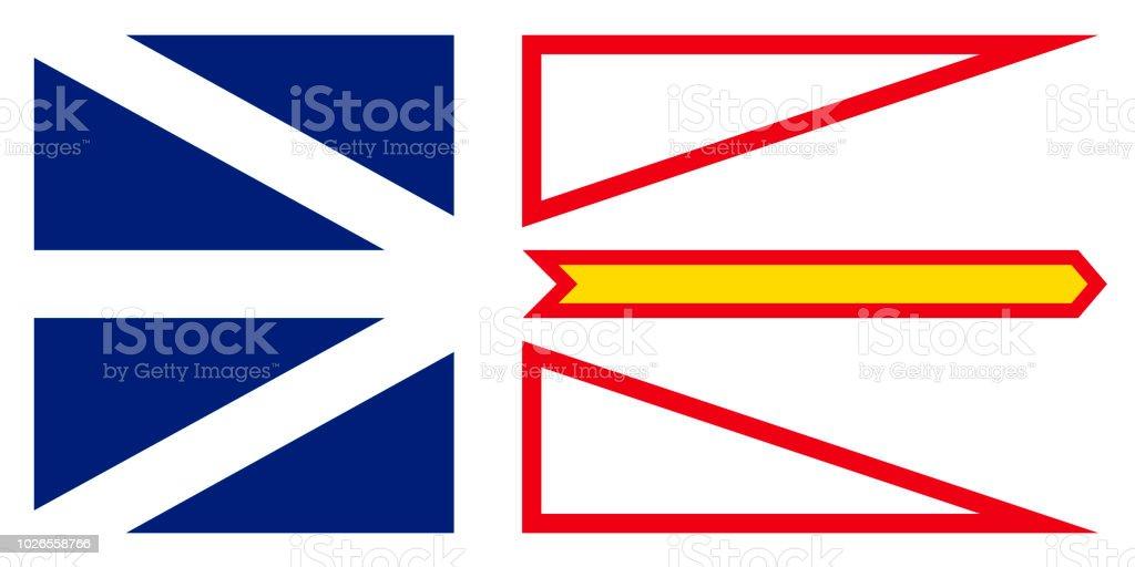 Vector bandeira de terra nova e Labrador Canada.St. Johns - ilustração de arte em vetor