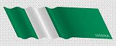 Vector flag of Nigeria waving background