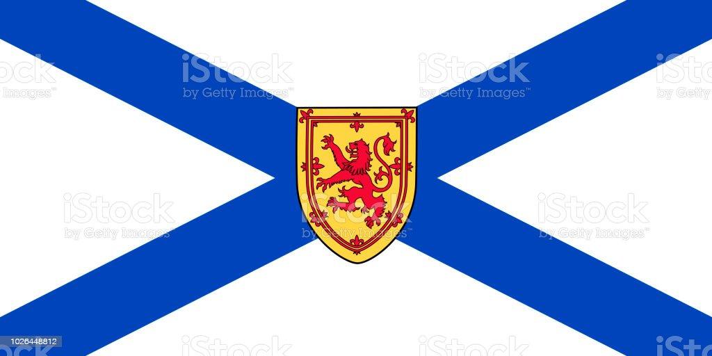 Vector bandeira da província de Nova Escócia, Canadá. Halifax, Cape Breton - ilustração de arte em vetor