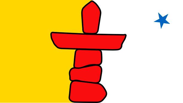 ilustrações, clipart, desenhos animados e ícones de vector bandeira do território de nunavut canadá. - bandeira union jack