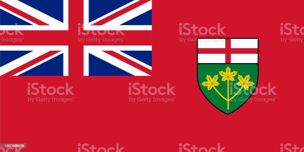 Vector bandeira de Ontário, província do Canadá. Toronto - ilustração de arte em vetor
