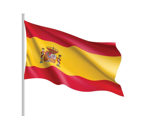 vector flag of spain country - spanish flag stock illustrations, clip art, cartoons, & icons