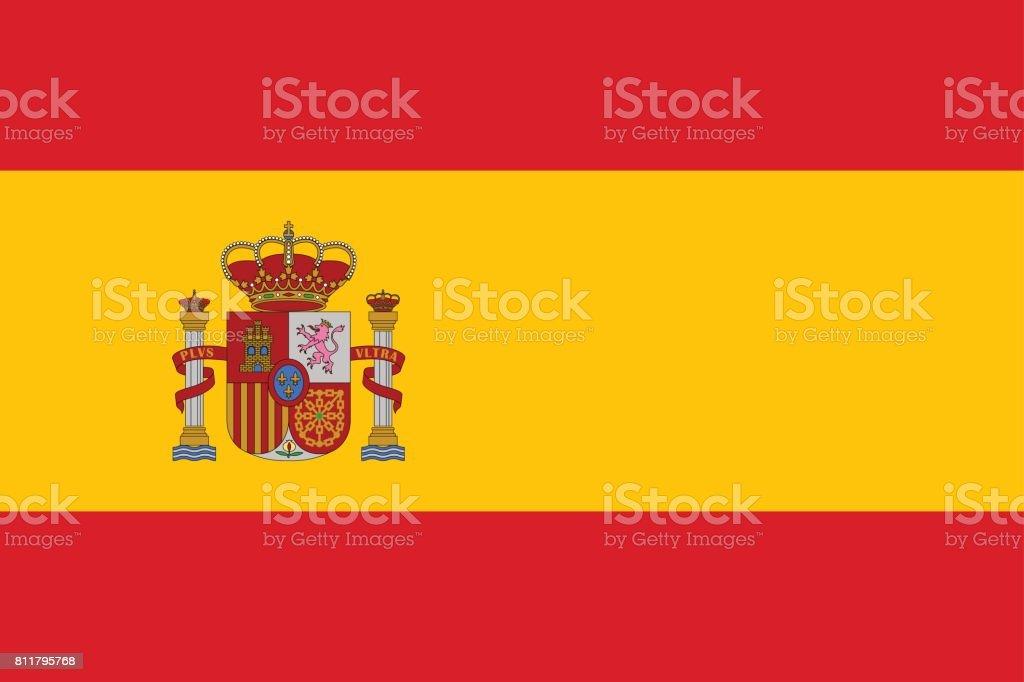 Vektorflagge Von Spanien Land Stock Vektor Art und mehr