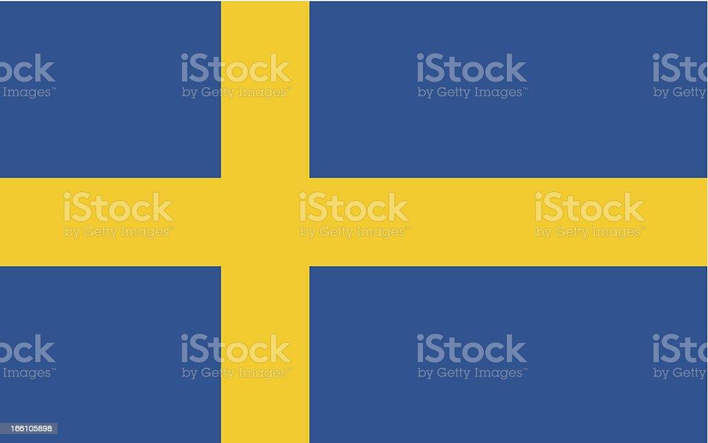 Vector flag of Sweden made _ vector art illustration
