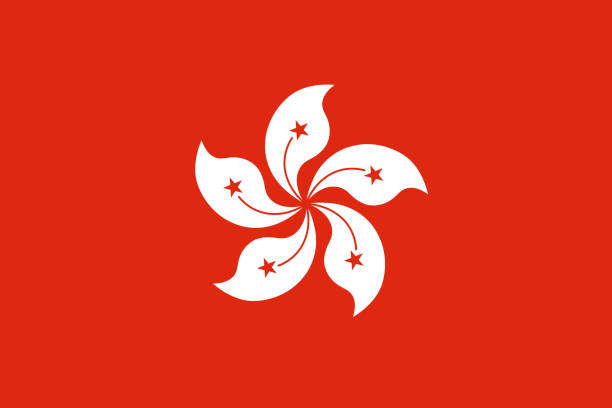 Vector flag of the Hong Kong Special Administrative Region of the People's Republic of China. Proportion 2:3. The national flag of Hong Kong. Vector flag of the Hong Kong Special Administrative Region of the People's Republic of China. Proportion 2:3. The national flag of Hong Kong. Vector EPS 10 flower part stock illustrations