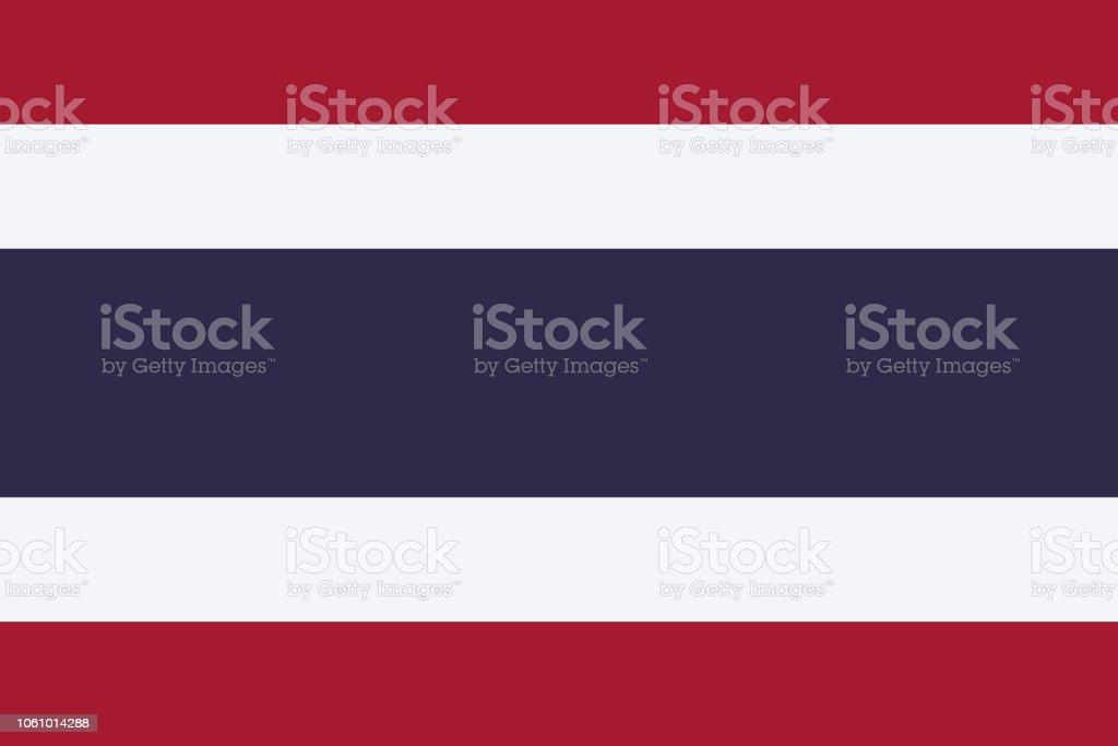 タイ王国のベクトル フラグ。2:3 を割合します。タイの国旗。三色の旗。 ベクターアートイラスト