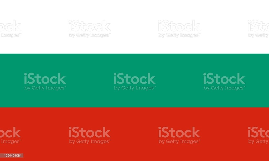 Vector flag of the Republic of Bulgaria. Proportion 3:5. The national flag of Bulgaria. The tricolor flag. vector art illustration