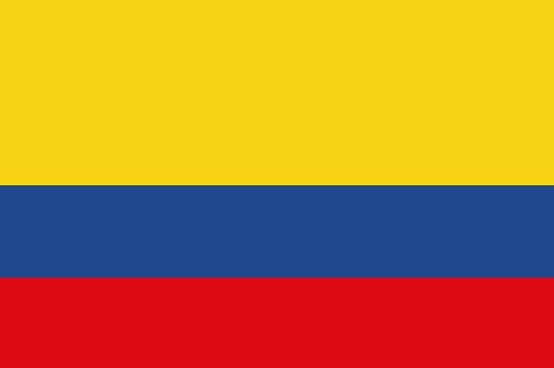 Vector flag of the Republic of colombia. National flag of colombia. illustration