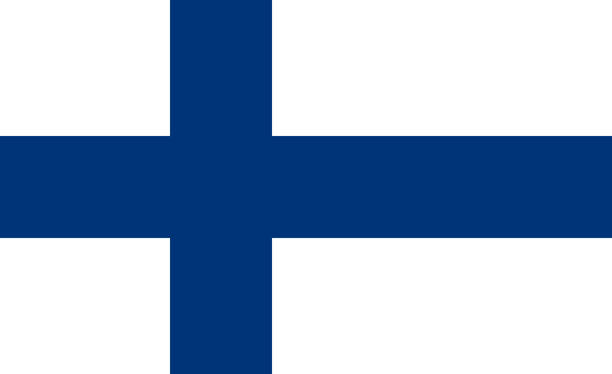 vector flag of the republic of finland. proportion 11:18. the national flag of finland. blue cross flag. - finnish flag stock illustrations, clip art, cartoons, & icons