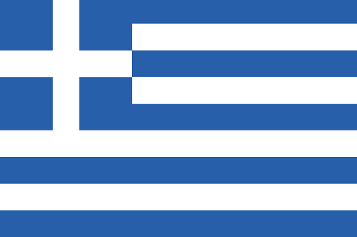 Vector flag of the Republic of Greece. National flag of Greece. illustration