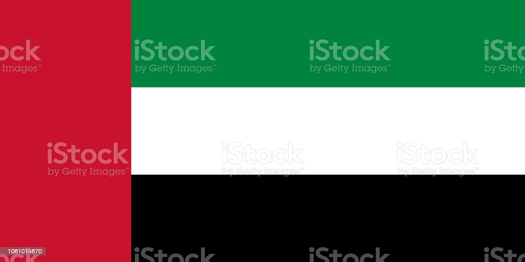 Vector Flag Of The United Arab Emirates Proportion 12 The National