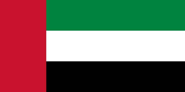 vector flag of the united arab emirates. proportion 1:2. the national flag of the united arab emirates. - uae flag stock illustrations