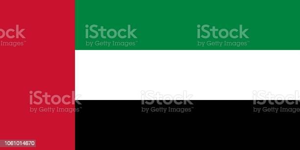 Vector Flag Of The United Arab Emirates Proportion 12 The National Flag Of The United Arab Emirates - Stockowe grafiki wektorowe i więcej obrazów Abu Zabi