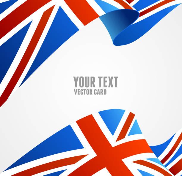 ilustraciones, imágenes clip art, dibujos animados e iconos de stock de vector bandera de reino unido.  frontera - bandera británica