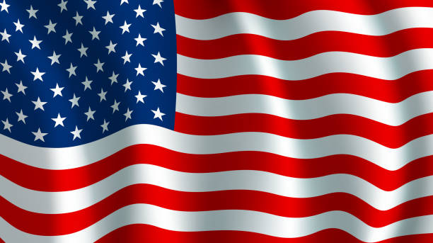 vector flag of usa. american national symbol - american flag stock illustrations