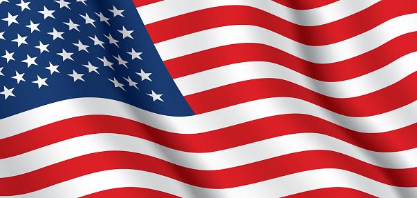Vector flag of USA.