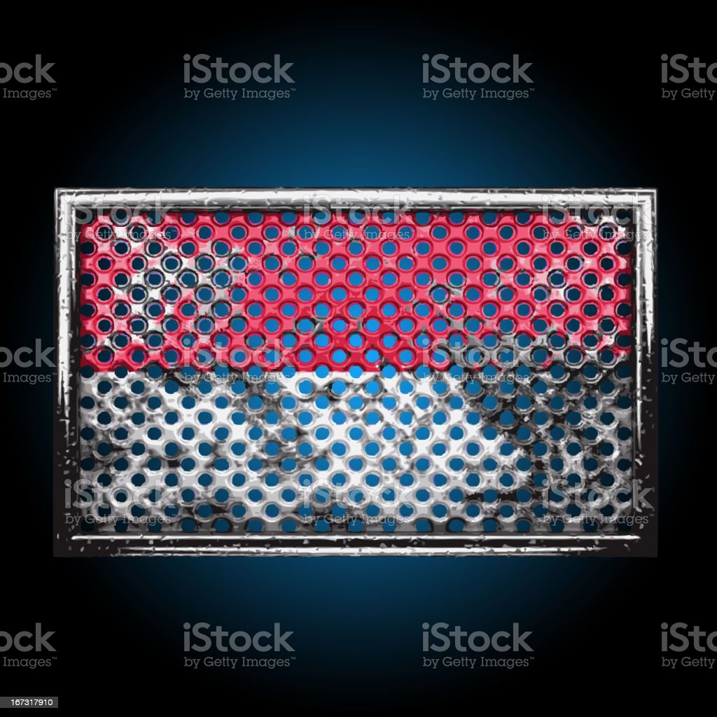 Vector flag on old metal royalty-free vector flag on old metal stock vector art & more images of backgrounds