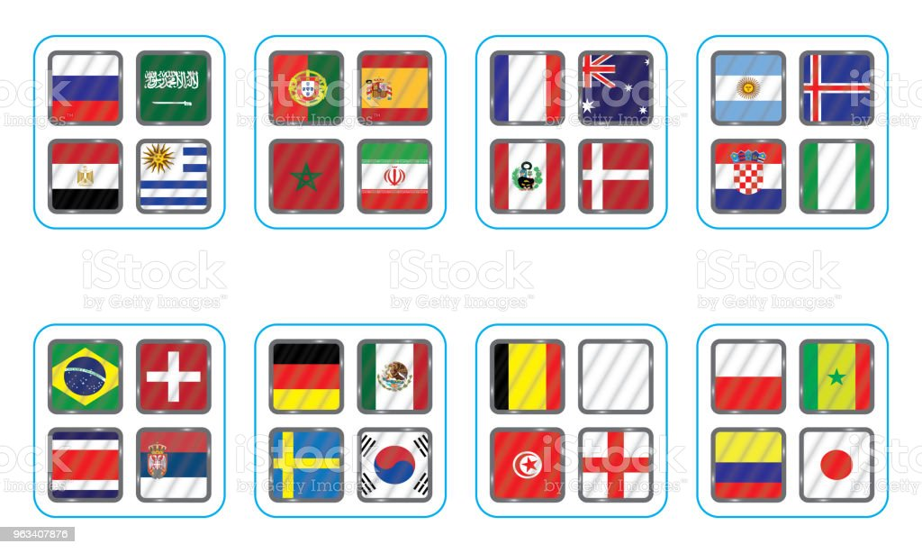 Vector flags of the country. Information graph of the flags of the country. - Grafika wektorowa royalty-free (Afryka)