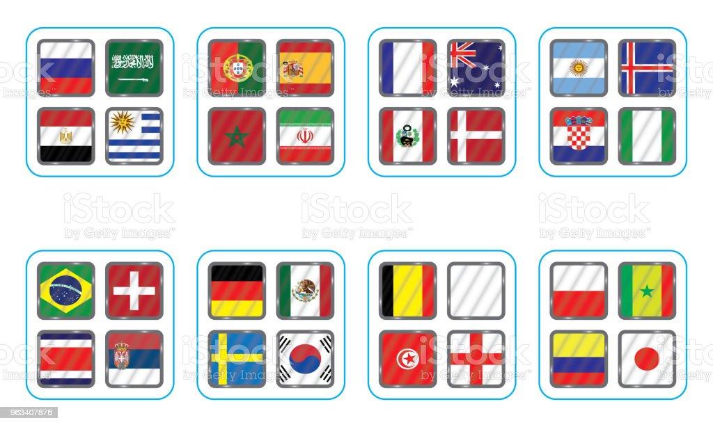 Wektorowe flagi kraju. Wykres informacyjny flag kraju. - Grafika wektorowa royalty-free (Afryka)