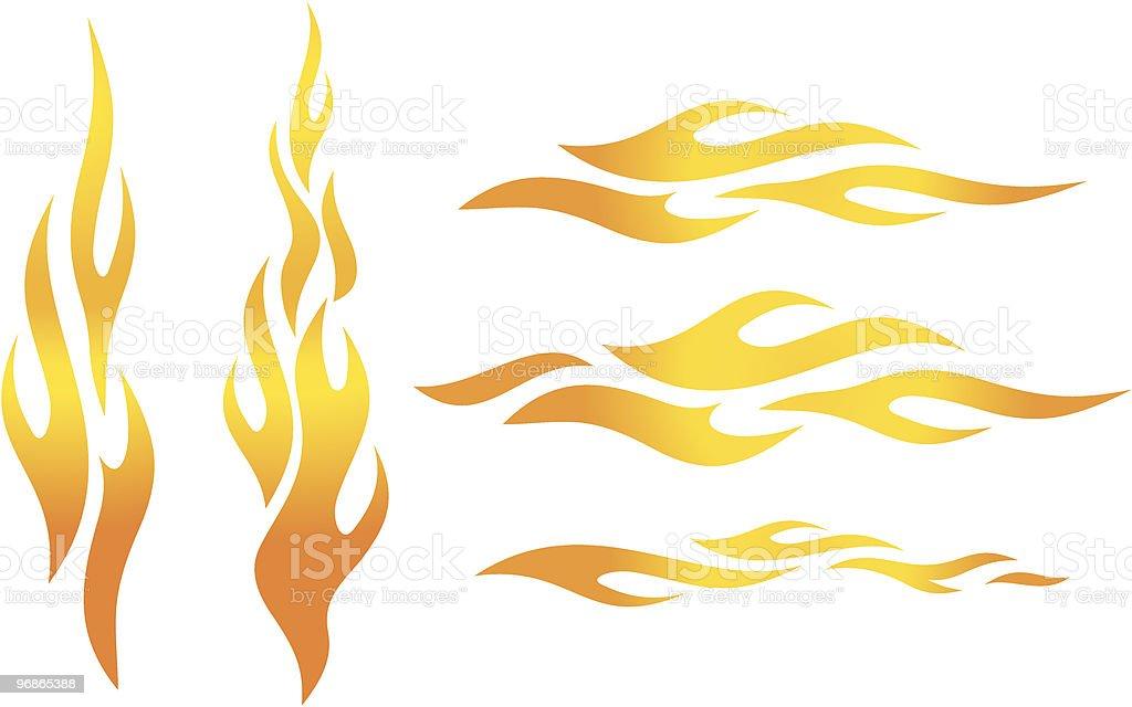 Vektor-Flammen Lizenzfreies vektorflammen stock vektor art und mehr bilder von bildkomposition und technik