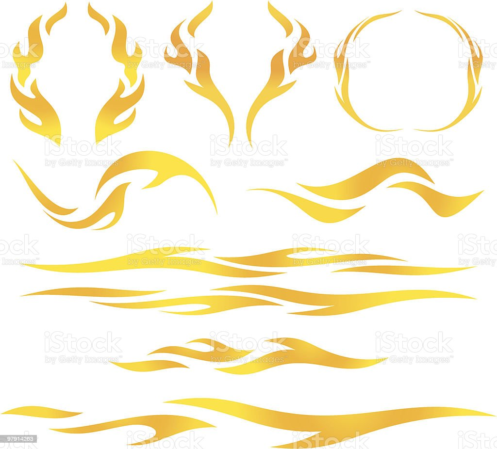 Vector flames royalty-free vector flames stock vector art & more images of bright