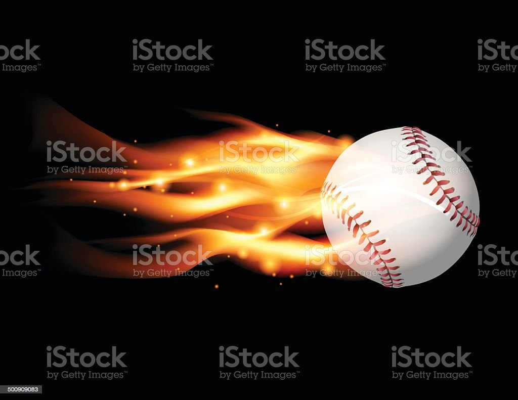 Vector Flaming Baseball Illustration vector art illustration