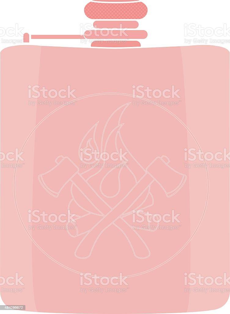 Vector flask icon. No outline vector art illustration