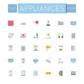 Vector Flat Appliances Icons