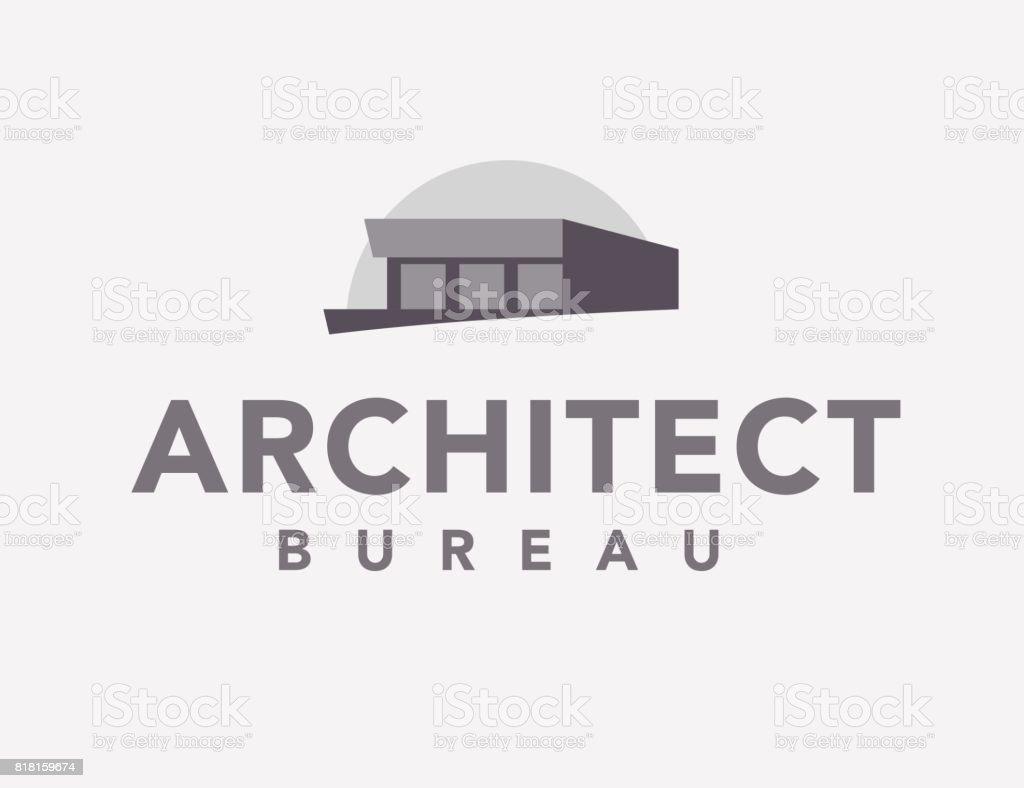Vector plano oficina icono arquitecto - ilustración de arte vectorial