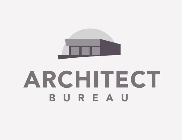 ilustraciones, imágenes clip art, dibujos animados e iconos de stock de vector plano oficina icono arquitecto - nueva casa