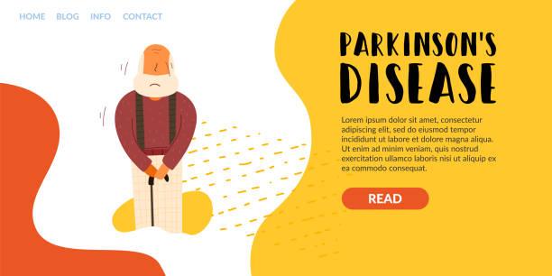 Vector Flader-Banner horizontale Beschriftung Parkinsons – Vektorgrafik