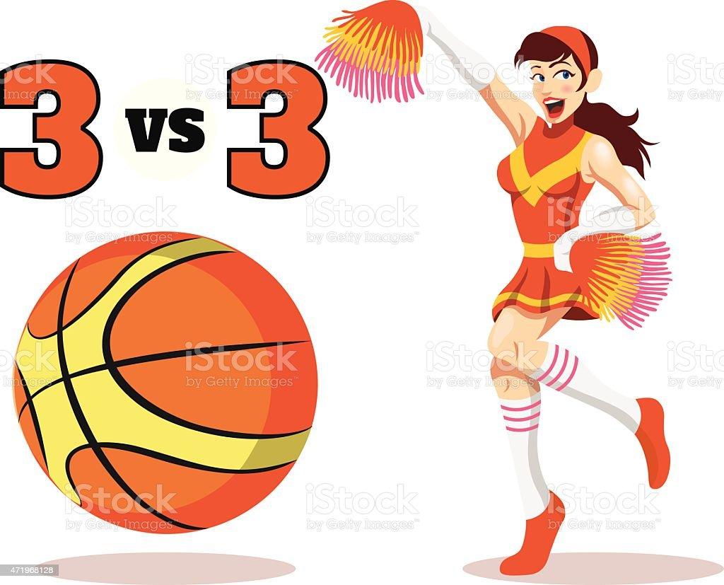 Vector flat basketball  illustration vector art illustration